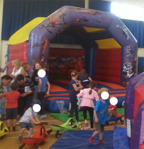 15' Action Hero Theme Bouncy Castle